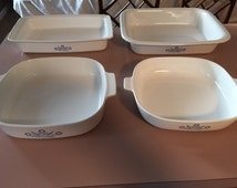 Corning Ware set of 4 oven dishes (No Lids)