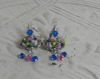 Artisan made Floral earrings