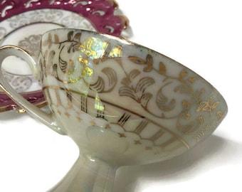 Cherry Tea  Cup, Antique Tea Cup, Unique Tea Cup, Footed Tea Cup, Victorian Tea Cup, Tea Cup, Tea Cup and Saucer, Antique Tea Cup and Saucer