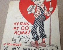 antique vintage E rosen valentine day funny humor love card,old post card photo pictures,country farmer/farming southern slang language