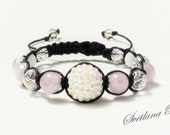 Bracelet Shambala Jewelry For her Women Sharm bracelet  Amethyst Swarovski elements