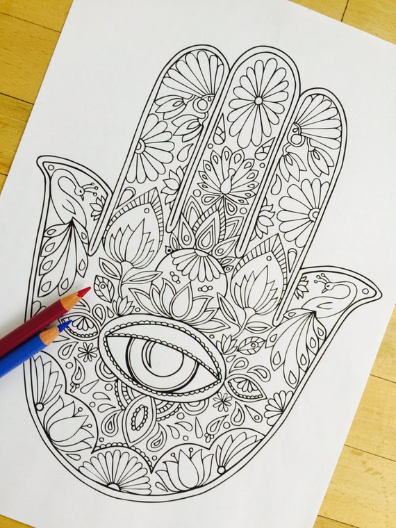 hamsa eye coloring pages - photo#3