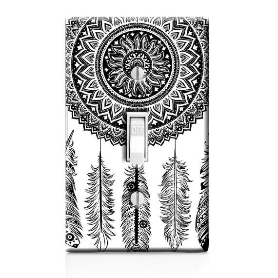Mehndi Decoration Germany : Home decor light switch cover mandala henna dream