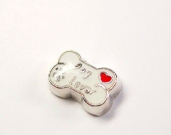 """Doggie Bone """"Dog Lover"""" Floating Charms Pets Theme"""
