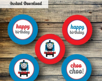 Thomas the Train Cupcake Toppers