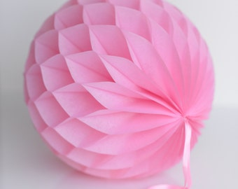 Baby pink Tissue paper honeycombs -  hanging wedding party decorations