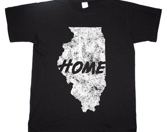 Illinois Home Tee Chicago Windy City State T shirt