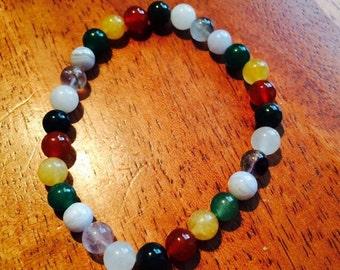Chakra Balancing Bracelet/Reiki Energy Crystal Healing Jewelry