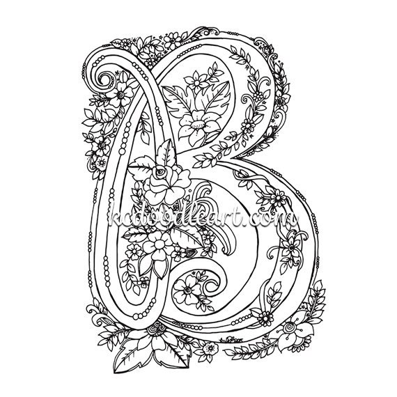 instant digital download coloring page for adults and