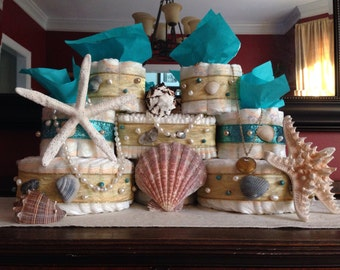 Sand Castle Diaper Cake