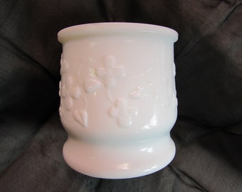 Vintage White Milk Glass Cashepot