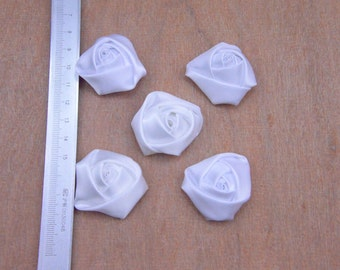 rose buds,satin rose buds,satin buds,20pcs rose buds,color mixing buds,colorized rose buds,chromatic rose buds,35x18mm white flower