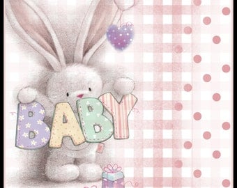 Bebunni 'Baby' Digital scrapbooking or cardmaking kit  **Digital Download**  Over 1000 items!