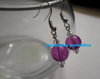 Purple Sphere Earrings