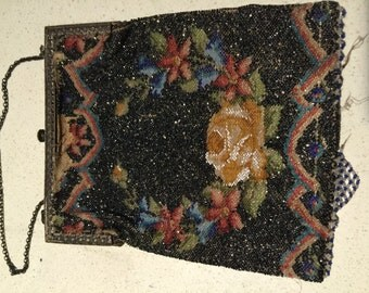 Vintage Purse Reticule Detailed Beaded Free Shipping