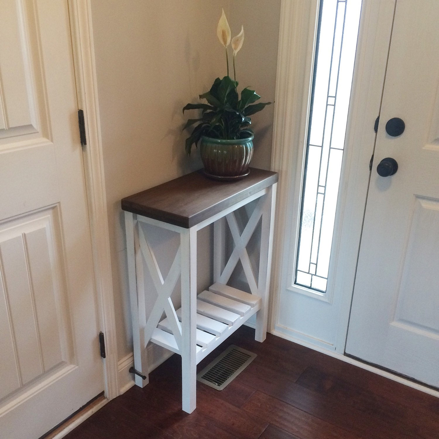 Farmhouse Chic Foyer : Farmhouse style entryway table by magnoliasandhardware on etsy
