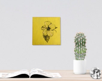 Bedroom Decor, Botanical Wall Art, Hibiscus Flower Print, Botanical Print, Flower Wall Decor, Rustic Wood Sign, Shabby Chic, Country Decor