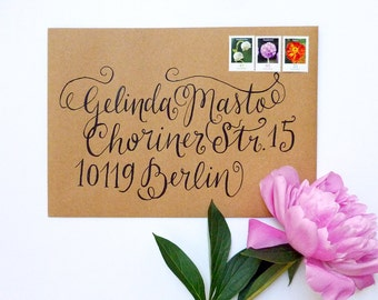 Hand-lettered Address For Unique Letters