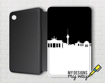 Berlin City Skyline Pictaleather Kindle Case - Kindle Paperwhite And Kindle Touch