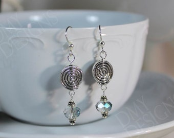 Spiral Shimmer Earrings