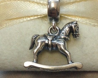 Authentic Pandora Silver Rocking Horse Charm #791413