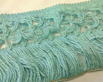 5 1/2 Inch Teal Fringe By The Yard