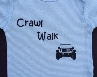 Crawl Walk Jeep Onesie