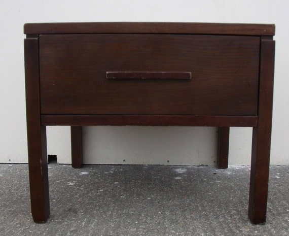Square Side Table With Drawer Draw By VineyardKingMK On Etsy