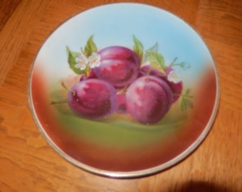 TRANSFER WARE PLATE with Plums