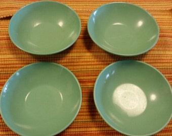 Vintage Retro Avocado Green Genuine Melamine Plastic Tableware Dishes –  5 Piece Lot Made by STETSON Melamine