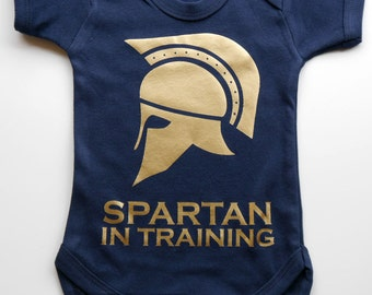 Baby Spartan Vest - Baby Spartan In Training Vest / Body Suit / Play Suit