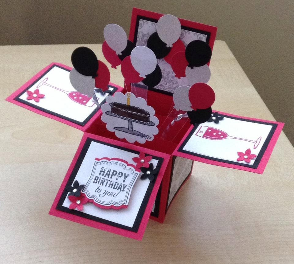 Birthday Cards Box ~ Handmade card in a box unique birthday by induscraftcreations