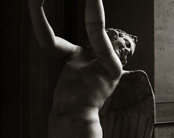 Fine Art Photography, Cupid, Eros, Sculpture,  Paris, Louvre Museum,  Photography, Photo Wings, FREE SHIPPING