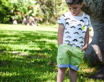 Boys Sumer Linen Shorts