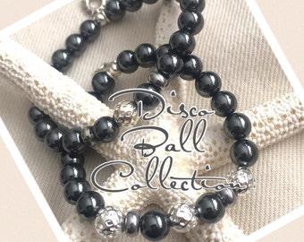 Disco Ball beaded bracelet
