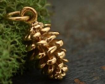 Bronze Pinecone Charm