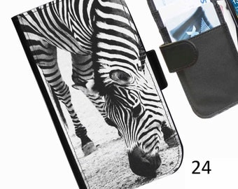 Personalised Leather pu wallet phone case for LG L40 G2 G3 G3S G3Stylus with a zebra picture printed on the case