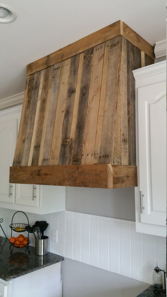 Custom Rustic Hood Vent Cover By SAWCustomWoodwork On Etsy