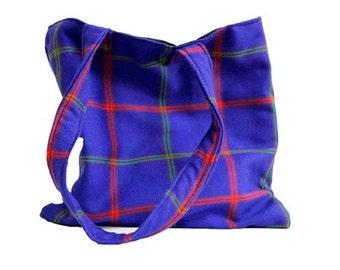 Wool Patterned Shoulder/Tote bag