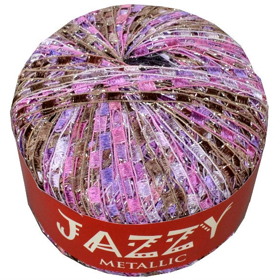 SALE: Jazzy Metallic Ladder Yarn 26 Princess Ribbon Ladder