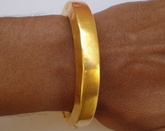 vintage antique gold vermeil gold gilded silver bracelet bangle old tribal gypsy