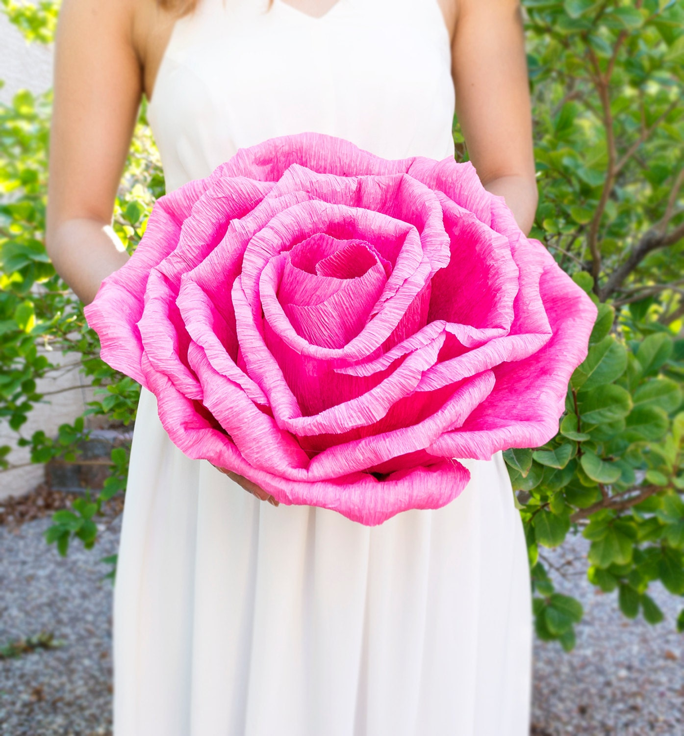 Handmade giant crepe paper flower without stem wedding