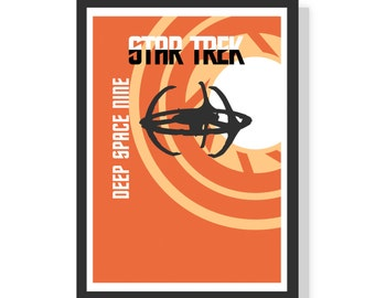 Deep Space Nine at the wormhole - Star Trek - DS9 - Premium A2 LARGE Poster Print