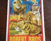 Robert Bros. Circus Poster
