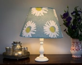Daisies. Handmade lampshade. Cone shaped. For ceiling and a lamp. 21cm top, 38cm bottom