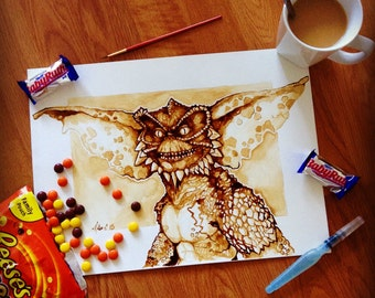 Gremlins coffee painting