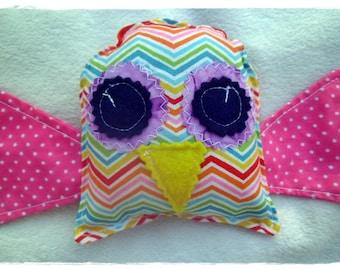 Owl soft toy, owl plushie, owl softie, owl toy, soft toy, rainbow, imaginative play