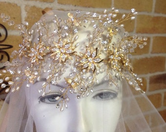 Catarina. Bridal headband, Art Deco, wreath, bridal accessories, headpiece jewelry, wedding hair accessories