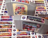 Nintendo N64 end labels (free shipping to US)