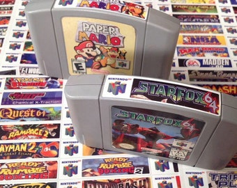 Nintendo N64 end labels